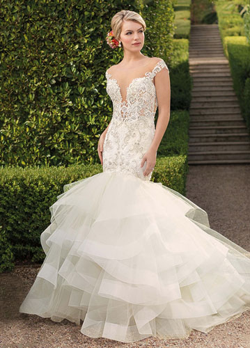 Dramatic mermaid bridal gown