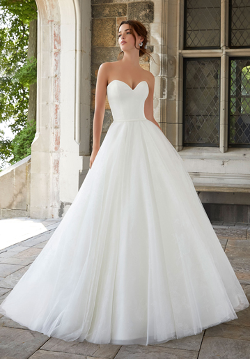 Strapless ball gown wedding dress from Morilee by Madeline Gardner