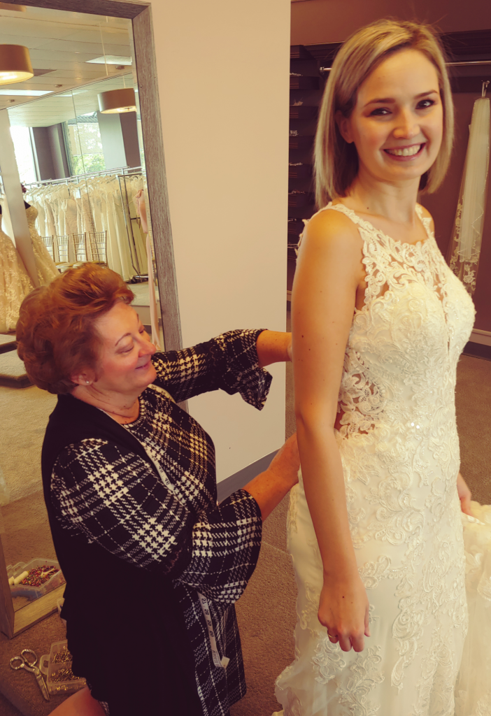 Wedding dress alterations at Wendy's Bridal Cincinnati