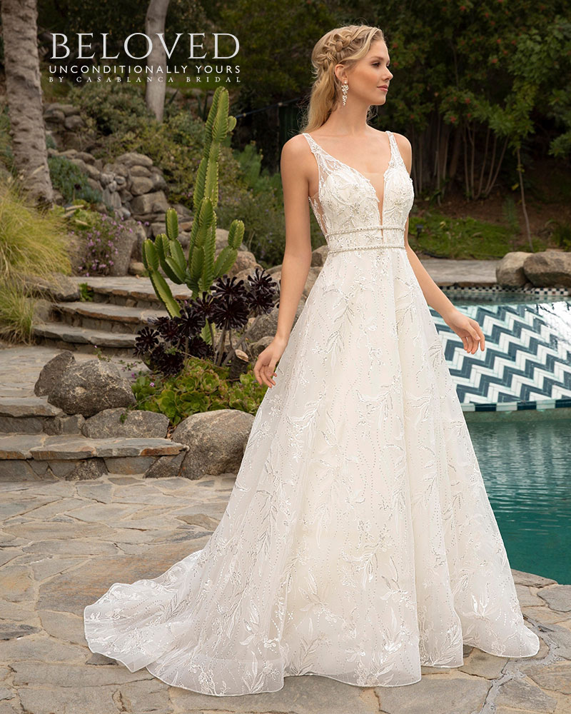 Romantic A-line wedding dress by Beloved from Casablanca Bridal
