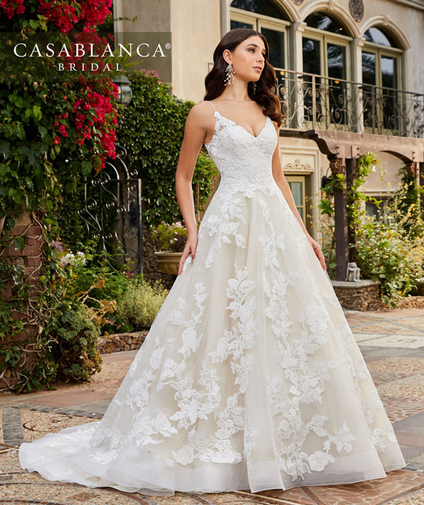 Beautiful A-line bridal gown from Casablanca Bridal