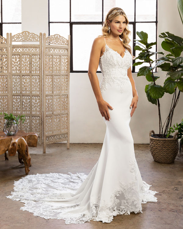 Romantic fit and flare wedding dress by Beloved from Casaablanca Bridal