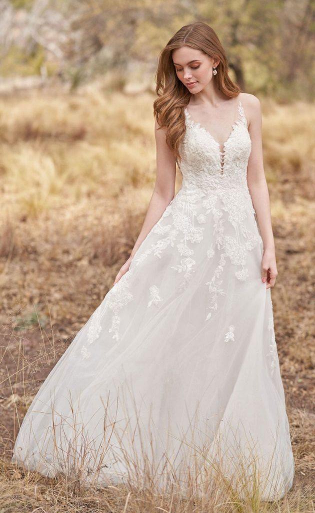 Simple lace A-line-Wedding Dress
