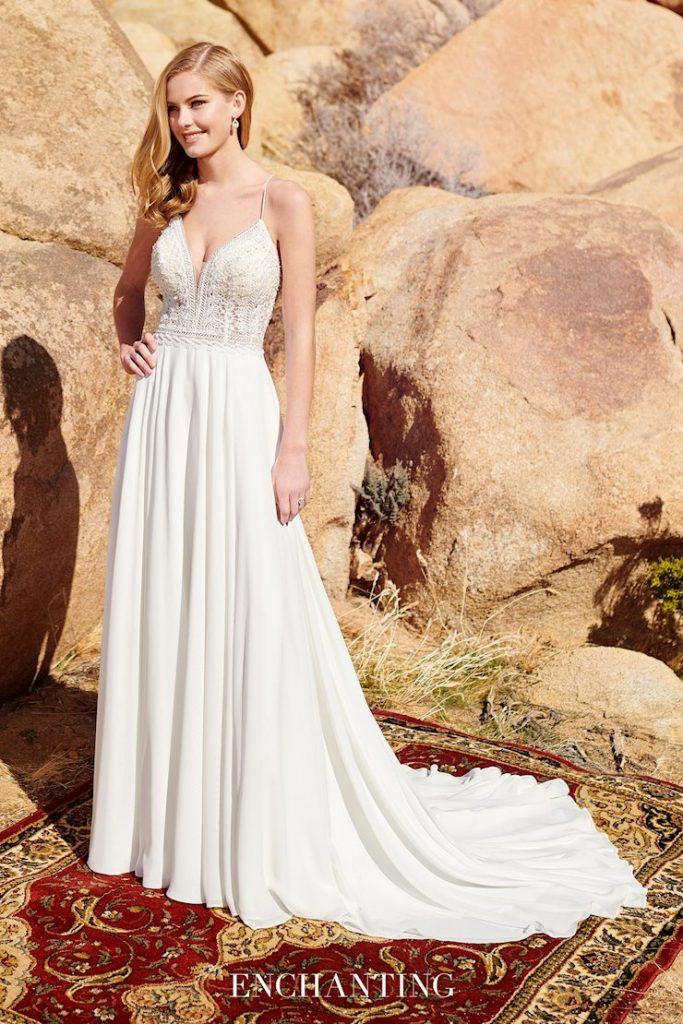 Sleeveless A-line wedding dress