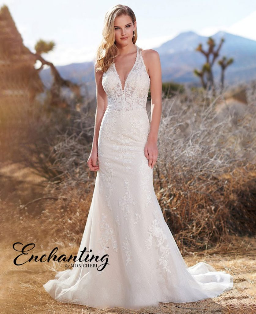 Sleeveless A-line bridal gown