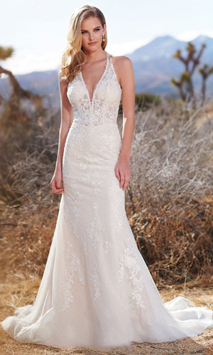 Sleeveless A-line bridal gown from Enchanting by Mon Cheri