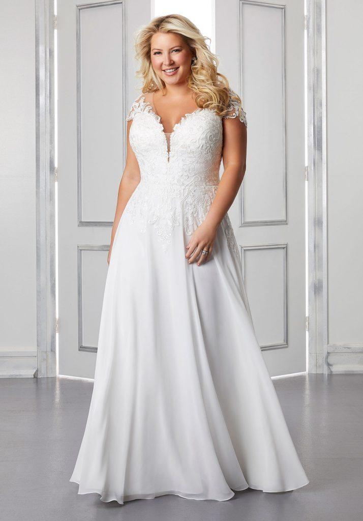 Plus-Size A-line Bridal Gown
