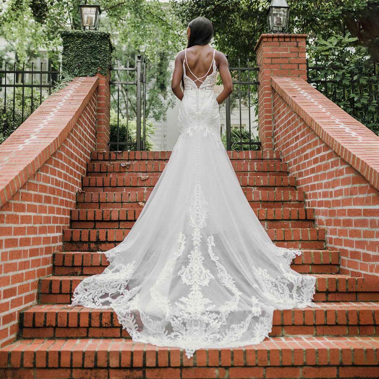 Sleeveless fit-and-flare bridal gown from Essense of Australia