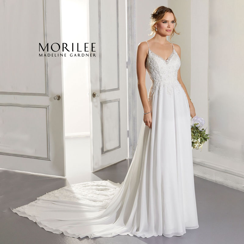 Sleeveless A-line wedding gown from Morilee by Madeline Gardner