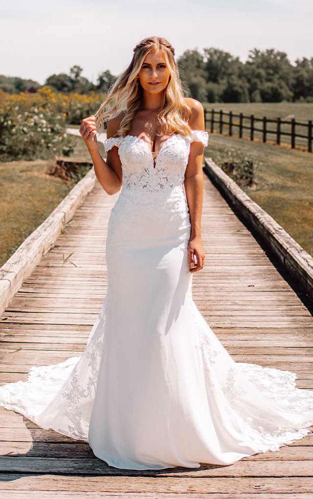 wedding-dress-off-shoulder-fit-flare-Essense.D3247