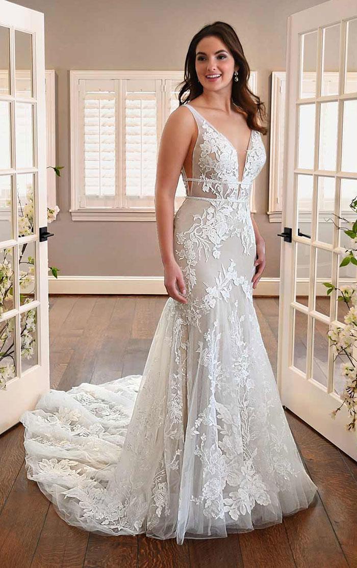 wedding-dress-sleeveless-fit-flare-Essense-D3300