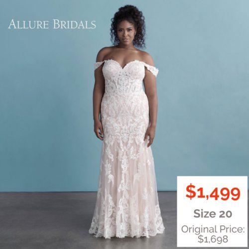 Plus-Size Sheath Wedding Dress