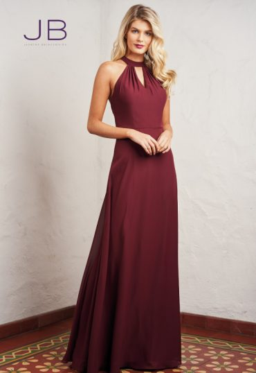 Classic bridesmaids dress with halter neck
