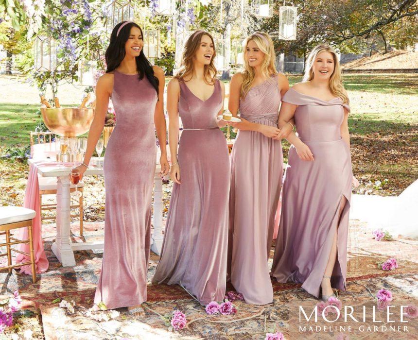dusty-rose-velvet-bridesmaid-dresses