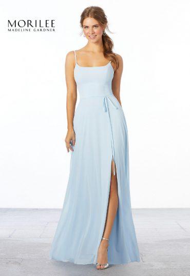long-light-blue-bridesmaid-dress-spaghetti-straps