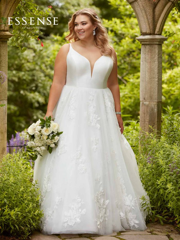 Plus-size wedding dresses in the Reading Bridal District