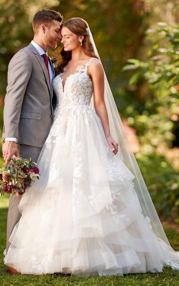 wedding-dress-ballgown-tiered-skirt-essense-D3088