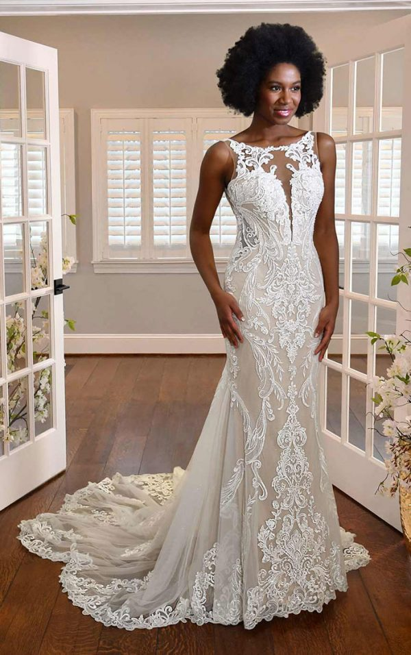 wedding-dress-high-neck-fit-flare-Essense-D3153
