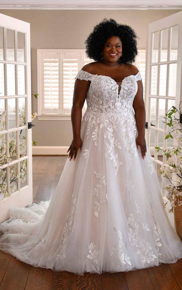 wedding-dress-plus-size-off-shoulder-a-line-Essense-D3314